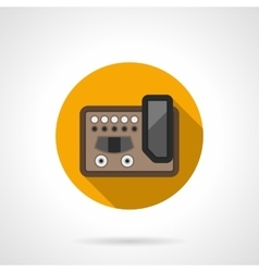 Guitar effects equipment round color icon vector
