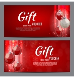 Christmas and new year gift voucher discount vector