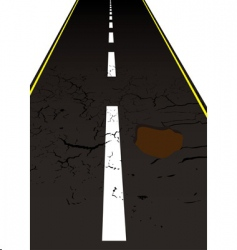 road pot hole vector image