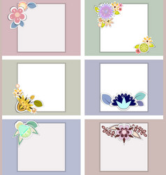 Set of templates for weddingbirthday vector