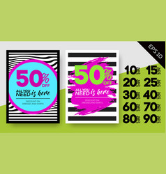 Set of spring sale posters vector