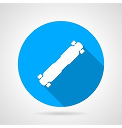 Flat icon for longboard vector