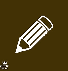 Geometry idea icon with detailed brown edit pencil vector image