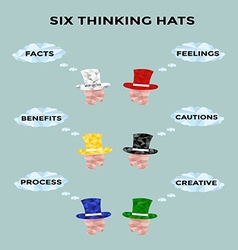 Six thinking hat vector