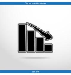 Chart web flat icon vector