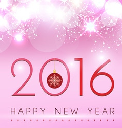 New year on pink glow background design vector