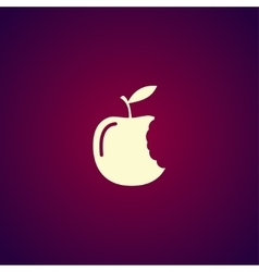 bitten apple icon vector image