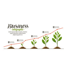 Business concept infographic template for vector