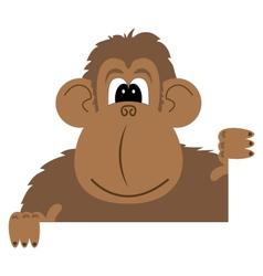 cartoon of a monkey vector image vector image