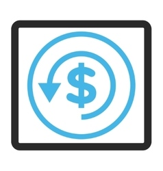 Chargeback framed icon vector