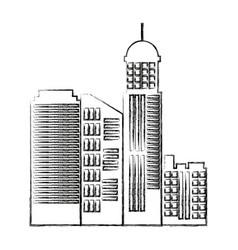 Cityscape skyline town architecture skyscrapers vector