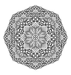 contour Mandala religious design element tattoo vector image vector image