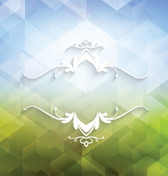 Decorative geometric background vector image