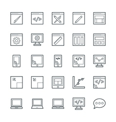 Design and Development Cool Icons 1 vector image vector image
