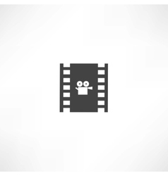 film frame icon vector image vector image
