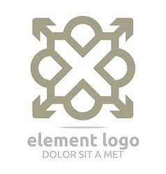 Gray element arrow letter design symbol icon vector