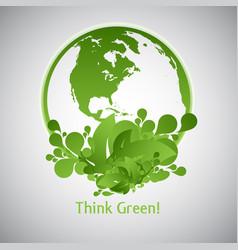 green eco world vector image