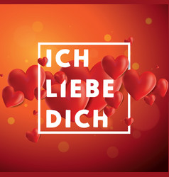Ich liebe dich background vector