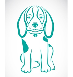 image of an dog beagle vector image vector image