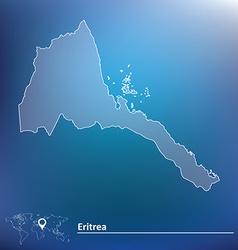 Map of Eritrea vector image
