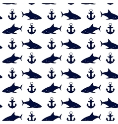 Nautical seamless background vector