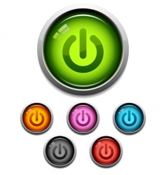 power button icon vector image vector image
