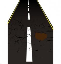 road pot hole vector image vector image