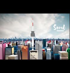 Seoul city skyline vector