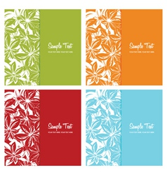 set of floral card backgrounds vector illustration vector image vector image