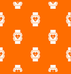 smartwatch pattern seamless vector image vector image