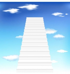 staircase in sky background vector image vector image
