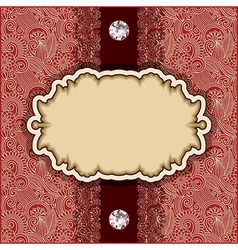 Template with diamond jewel vector