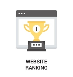 website ranking icon vector image