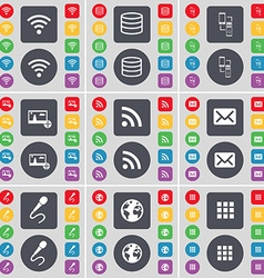 Wi-Fi Database Connection Picture RSS Message vector image