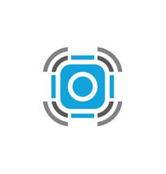 wireless technology business logo vector image