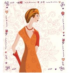 woman card vector image