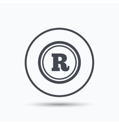 Registered trademark icon intellectual work vector