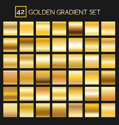 Metal golden gradients collection vector