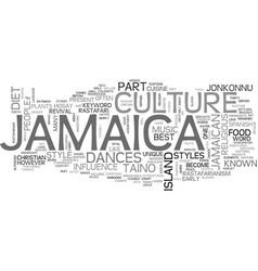 Jamaica culture text background word cloud concept vector