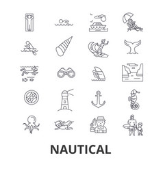 nautical marine sailing anchor sea navy vector image