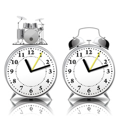 Alarm clock set in a retro style vector