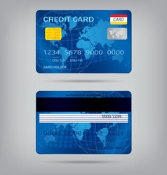 Popular blue premium extended business credit card vector