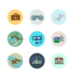 Travel icons set part 1 vector