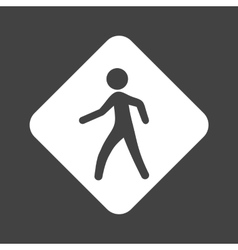 Pedestrian sign vector