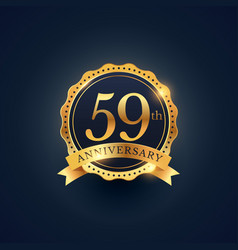 59th anniversary celebration badge label in vector