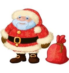 Good chubby Santa vector image