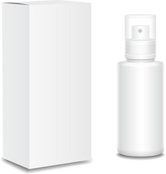 Blank cosmetics containers bottle with package vector
