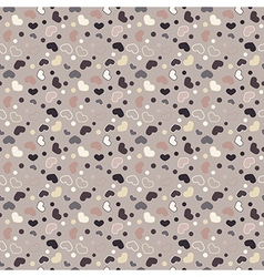 Retro seamless geometric pattern with hearts vector