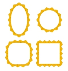 Set of different yellow frames vector