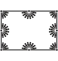 black floral frame vector image vector image